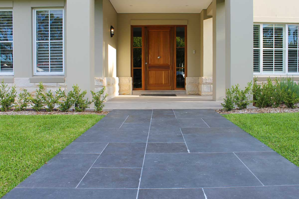 Landscaping Emu Plains Front Door Paved Path