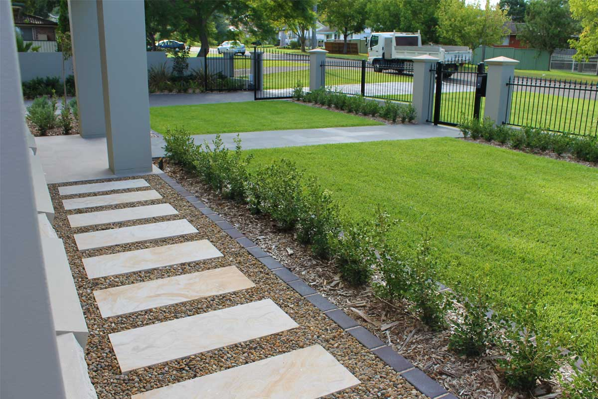 Landscaping Emu Plains Lawn Paved Pathway Driveway