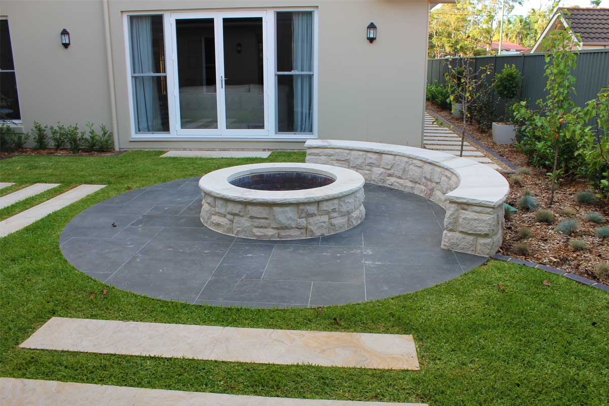 Landscaping Emu Plains Fire Pit Garden Paved Paths