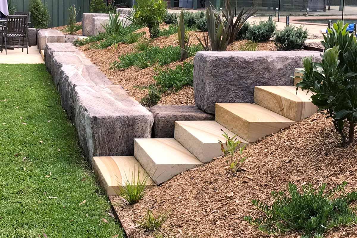 Landscaping Retaining Walls Sandstone Log