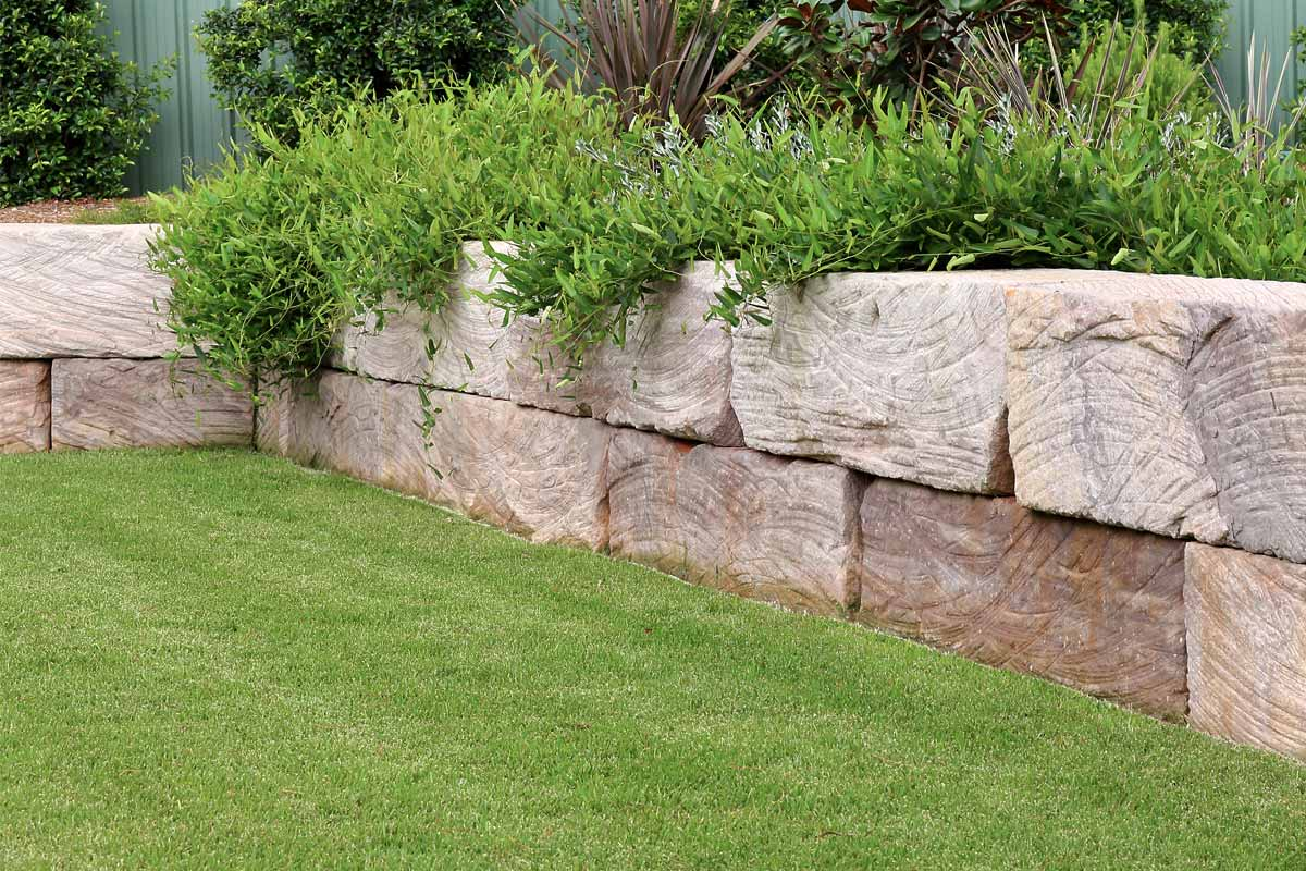 Landscaping Retaining Walls Sandstone Log Wall