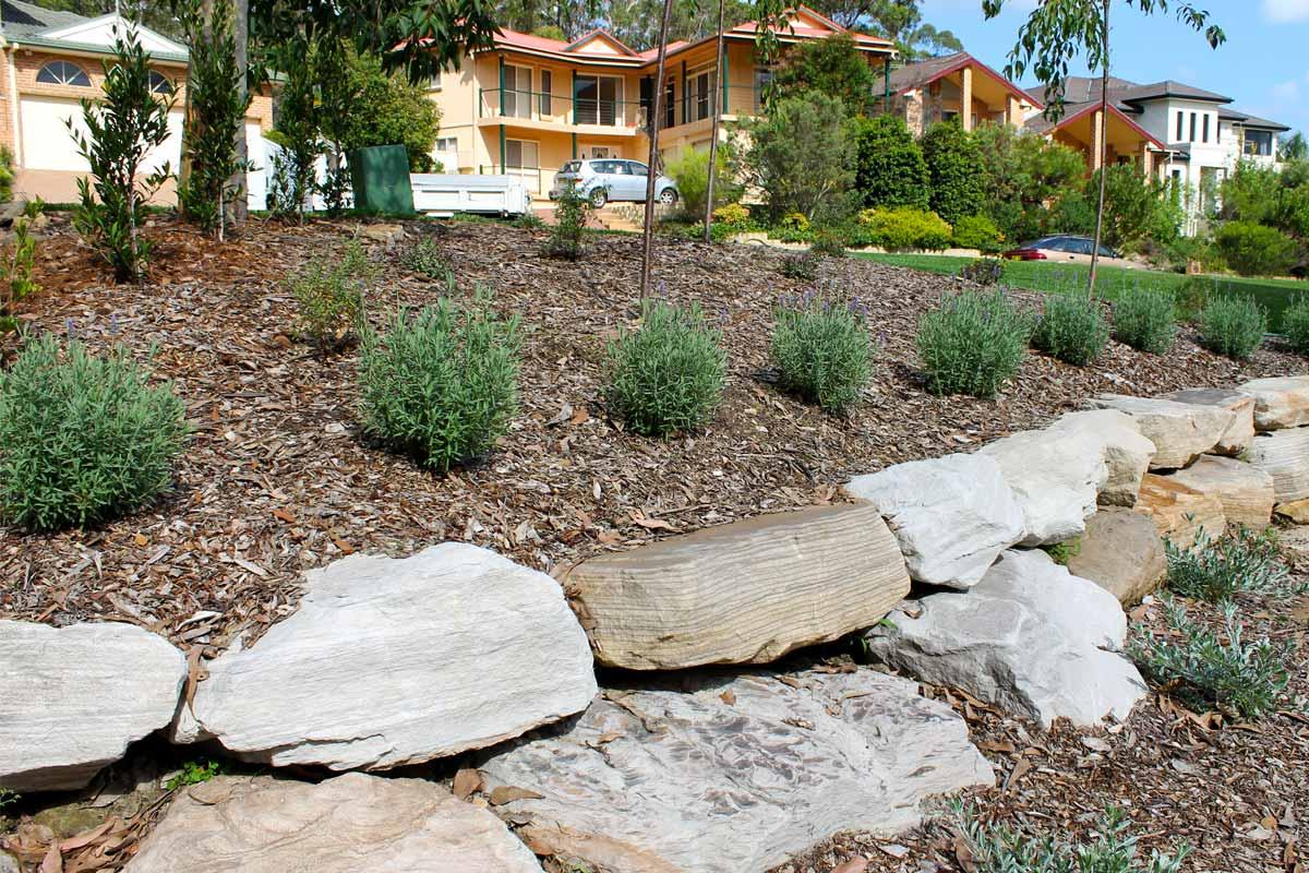 Landscaping Retaining Walls Sandstone Boulder