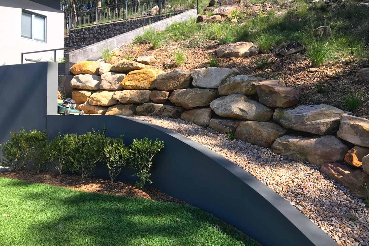 Landscaping Retaining Walls Sandstone Boulders