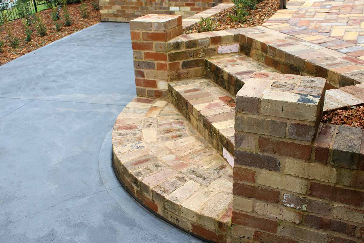 Landscaping Stairs Brick Stairs