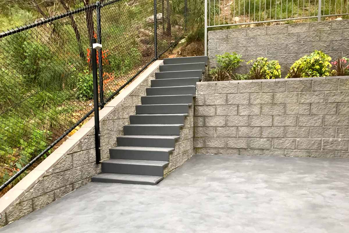 Landscaping Stairs Concrete Formal Stairs