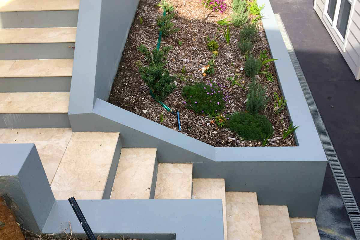 Landscaping Stairs Entrance Way Stairs