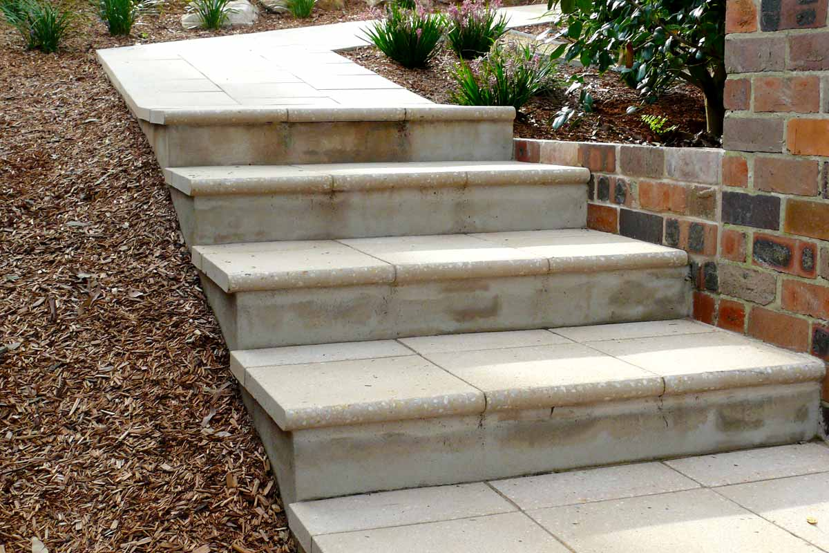 Landscaping Stairs Paved Stairs