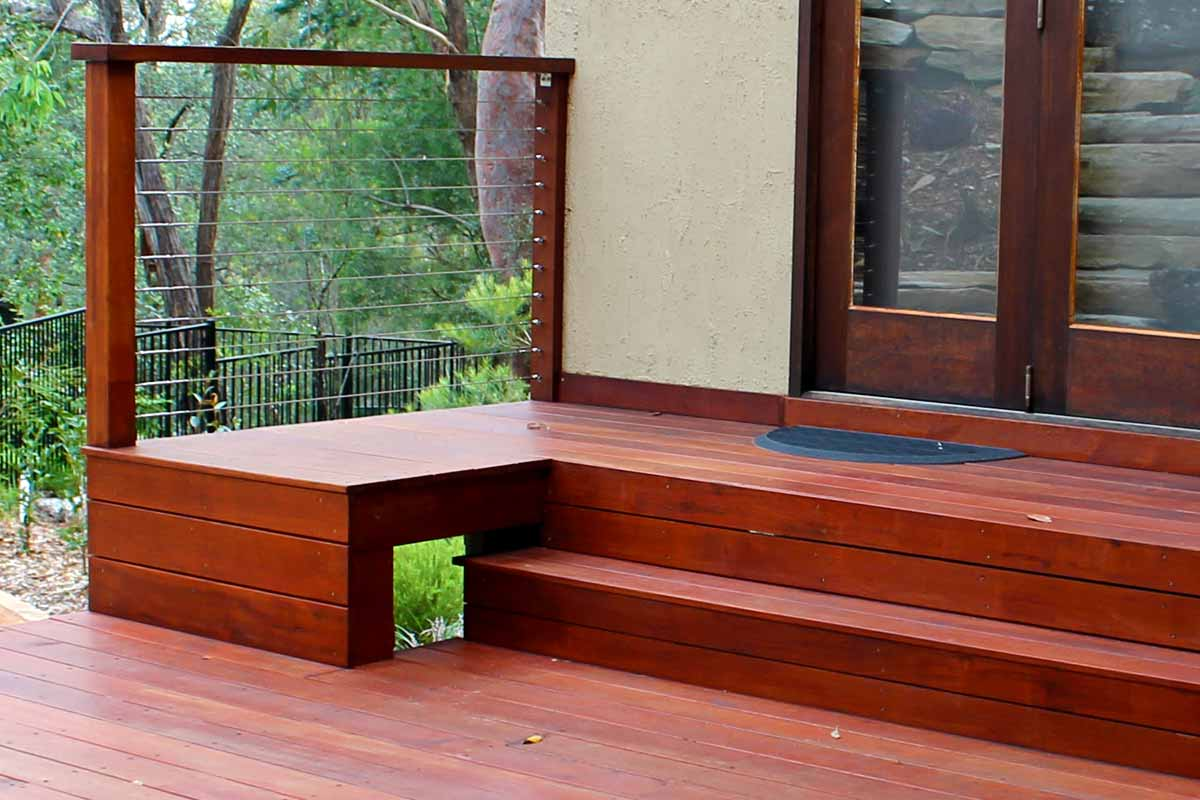 Landscaping Stairs Timber Deck Steps