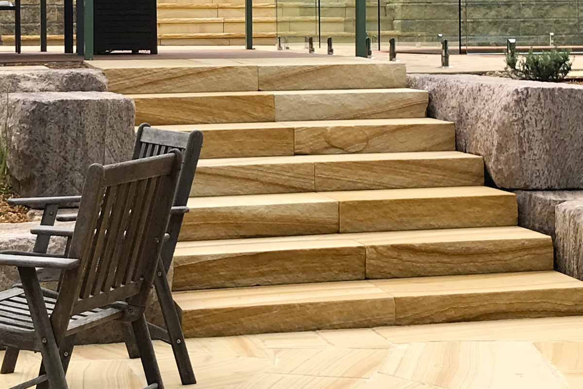 Landscaping Stairs Sandstone