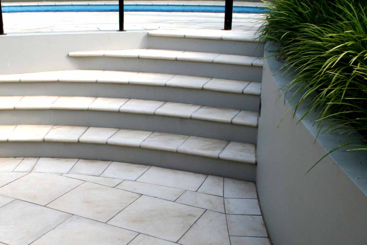 Landscaping Stairs Paved Curved Stairs