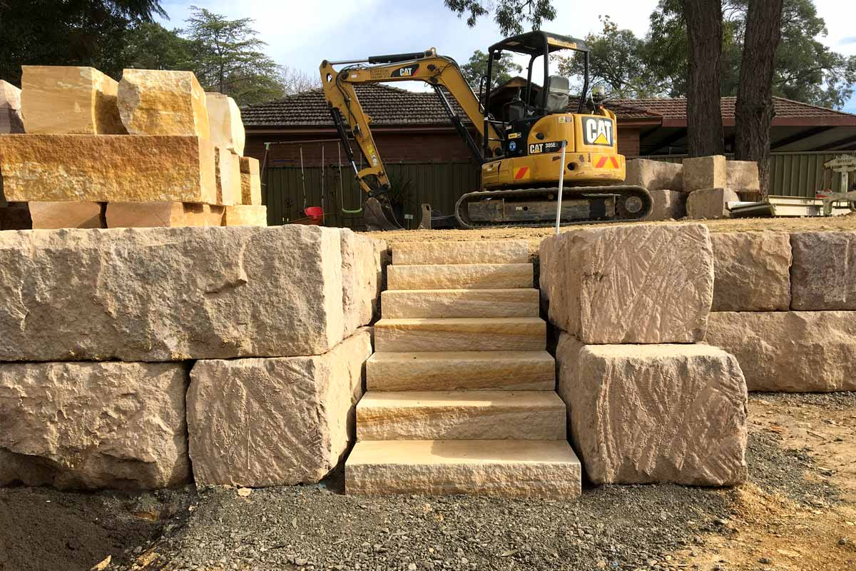Sandstone Log Retaining Walls Equipment