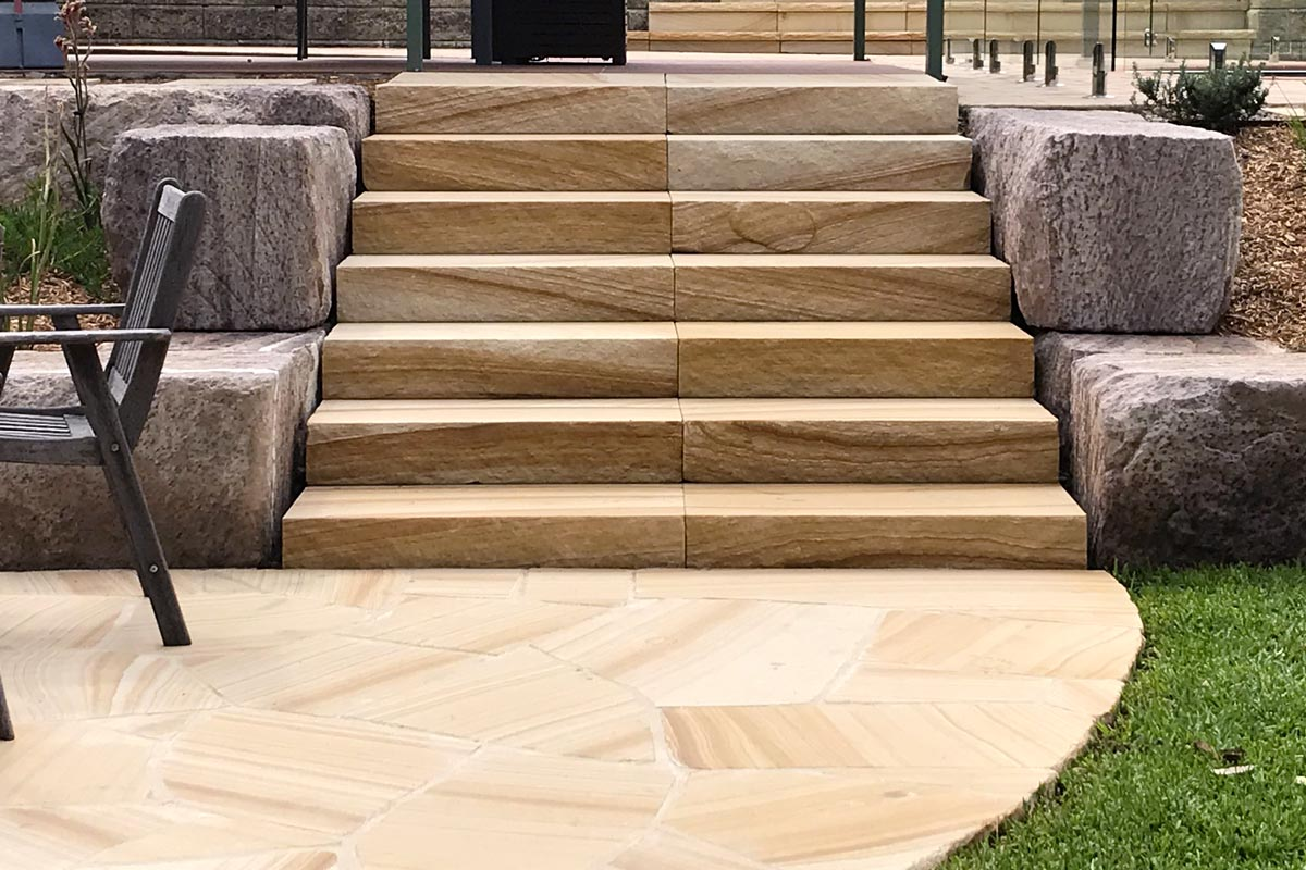 Valley Heights Landscaping Sandstone Stairs